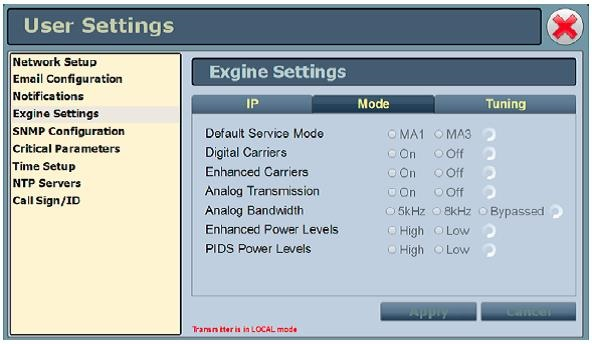 Tips AUI Exgine Settings
