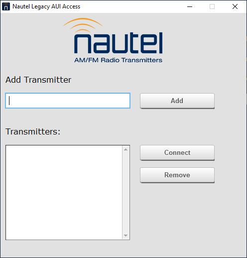 8. Nautel Legacy AUI Access App running